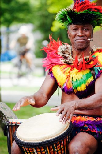 Shaka Zulu at Drumming Village